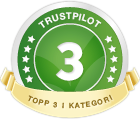 Trustpilot top 3 Badge
